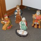 Set of 5 Nativity Blessed Virgin Mary Manger Baby Jesus 3 wise men Bearing Gifts