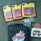 Cleveland Indians LOT 6 CD padded case 3 magnet temp tattoos  tats key chain NEW