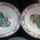 Set of 2 1995 Baby's 1st Christmas Melmac Bowl Kibouki Genin Trudeau upside NEW