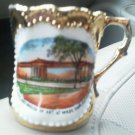 Cleveland Museum of Art Mug Cup Colorful Picture Gold Trim Wade Park Vintage Oh