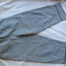 Dressbarn Ladies Capri Pants Slacks Black White Check Size S Cotton Pockets trim