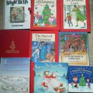 Set 9 Christmas Book Snowman Peanuts Jingle Bells Night Stars Sang Jesus Reading