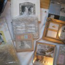 Set of 6 Baby Picture Frames Silver fetco Burnes of Boston Bear Bow Small Large