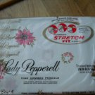 Vintage Lady Pepperell Vintage Fitted Sheet Twin Bed Pink Red Flower Percale NEW