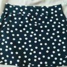 Aeropostale Stretch Skirt Short Size M Navy Wh Polka Dot Spandex Cotton Mini NEW