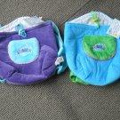 Set of 2 WEBKINZ Plush Pet Carriers Blue Purple Ganz Lined Backpack Holder NEW