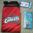 Set of 2 Cleveland Cavaliers NBA game day pouch Sport Tagz bag bottle opener NEW