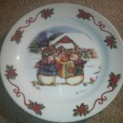 Set of 2 Mr and Mrs Snowman Plates Presents Cabin Large Melmac Colorful Trisa