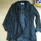 Ladies Allison Daley Size M Black Satiny Tank Sheer Lace Top Shell Shirt 2 Piece
