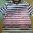 Ladies Karen Scott Sport Shirt Top Red Wh Brown Cotton Size M Scoop Neck NEW