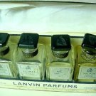 Lanvin Perfumes Vintage Mini Set of 4  in Original Box