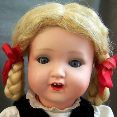 """Armand Marseille 17"""" Painted Bisque Antique Toddler Doll all Original"""