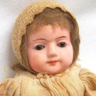 Antique German Glass Eyed Papier Mache Doll