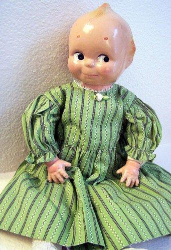 "16"" Kewpie w/Composition Head & Hands on Cloth Body"