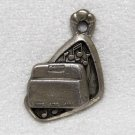 Sterling Silver Bell Telephone Interphone Charm