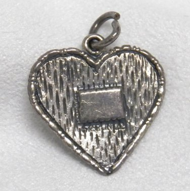 Vintage Sterling Silver Charm of a Heart