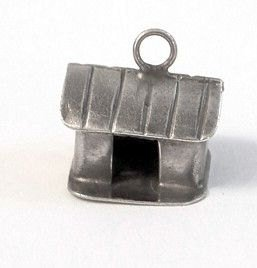 Vintage Sterling Silver Charm of a House