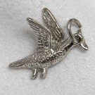 Vintage Sterling Silver Charm of a Duck Flying