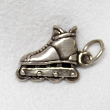 Sterling Silver Charm of Roller Blades