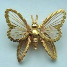 Monet Gold Metal Butterfly Pin