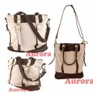 Leatherette Large Canvas Messenger Shoulder Hand Travel Hobo Military Tote Bag