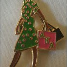 Alpha Kappa Alpha Sorority Diva Lady Lapel Pin