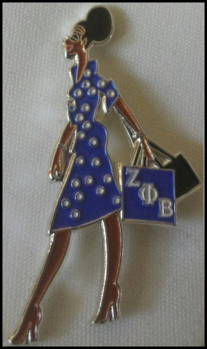 Zeta Phi beta Sorority Diva Lady Lapel Pin