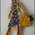 Sigma Gamma Rho Sorority Diva Lady Lapel Pin