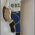 Phi Beta Sigma Fraternity Stepper Lapel Pin