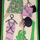 Alpha Kappa Alpha Sorority Diva Embroidered Luggage Tag
