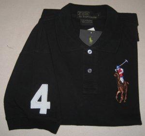 Ralph Lauren Polo Black Shirt With Big Pony Size L