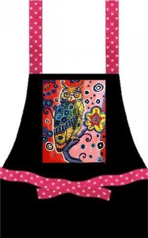 Artful Aprons's Mad Owl by Mark Durham