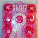 Bachelorette Hen Party Team Bride Party Ribbon Buttons