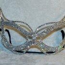 Sexy Rhinestone Venetian Cat Eyes Masquerade Face Mask