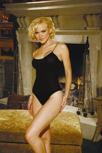 Elegant Moments Black Opaque Teddy Body Suit Straps  Nylon 90-160lbs #1438