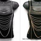 """Sexy Multi Layer Body Chain Necklace Drape 40""""  #1015"""