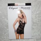 Elegant Moments Lingerie Dance Black Fringe Mini Dress One Size 90-165lbs