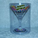 Happy Birthday Martini Margarita Plastic Glass Gift Decoration