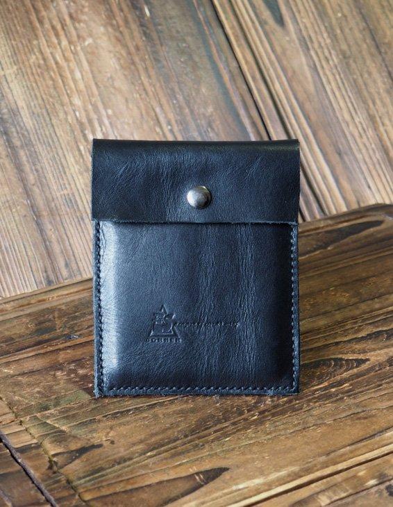 Leather Pouch - Minimalist Wallet handmade, Card holder, card wallet #Black