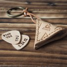 Handmade Leather Hand Craft Guitar Pick Holder Guitar Accessories Personalized gifts #Natural Nude