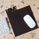 Handmade Leather Mouse pad Mousepad Mouse mat Desk pad Personalized gifts #Dark Brown