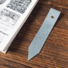 Leather Bookmark - Handmade Hand stitched Book Mark, Minimalist, Personalized, Custom#Blue Grey