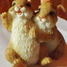 Vintage rabbits figurines