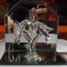 Glass dolphins figurine