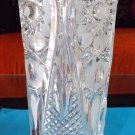 Flower vase made from original Bohemian crystal glass