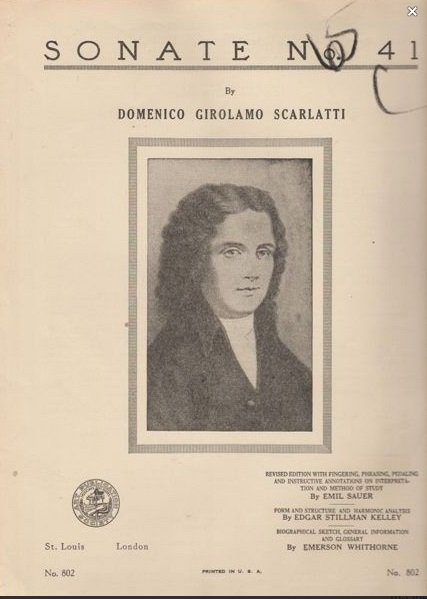 Sonate No. 41 By Domenico Girolamo Scarlatti 1943