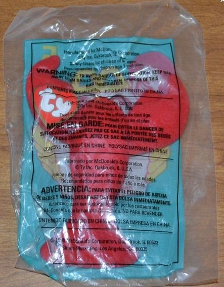 mcdonalds collectible toys - TY Animals McDonald's Lobster Pinchers Plush Toy NIP #5