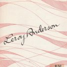 Forgotten Dreams by Leroy Anderson solo piano OUT OF PRINT 1954