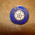 Leeds United A.F.C. all metal soccer pin badge.