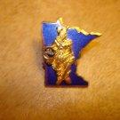 Minnesota Jaycees gold tone metal pin badge.